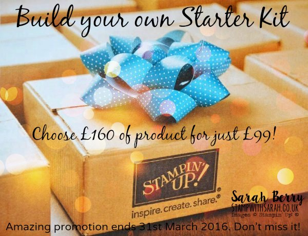 £160 Stampin' Up! Starter Kit Promotion