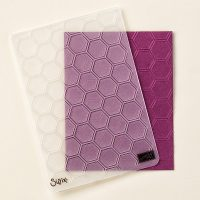 Stampin Up UK Stamp with Sarah Berry Honeycomb Textured Impressions Embossing Folder 129378