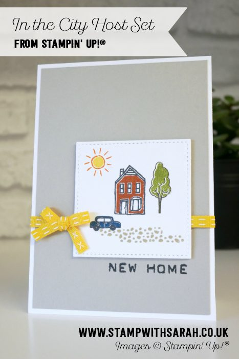 In the City Host Set from Stampin' Up! Uk Demonstrator Sarah Berry