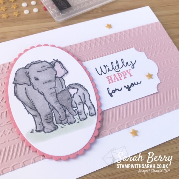 Baby card with Wildly Happy stamp set