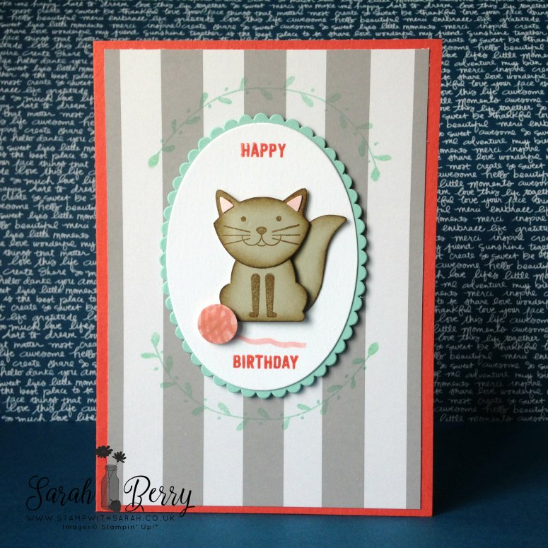 A Little Kitty Birthday Card by Sarah Berry