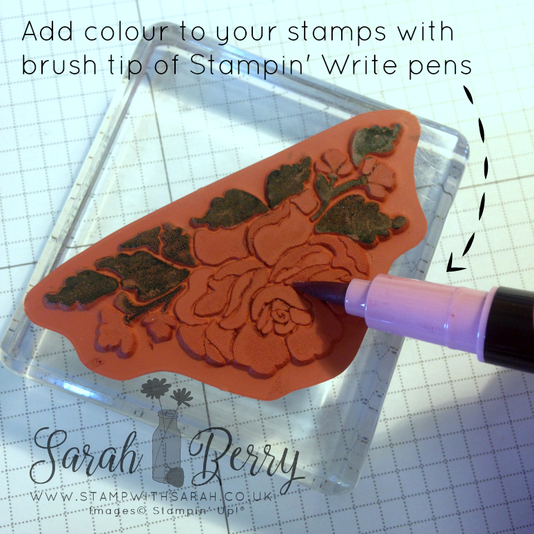 Add colour to your stamps with brush tip