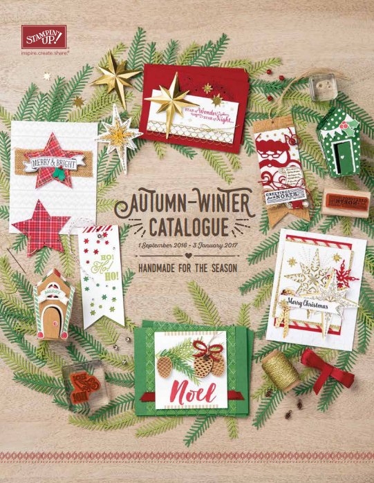 Autumn-Winter Stampin' Up! Catalogue is out now 1st September 2016!