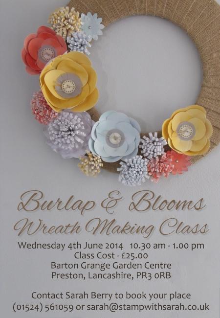 Burlap & Blooms Wreath Class