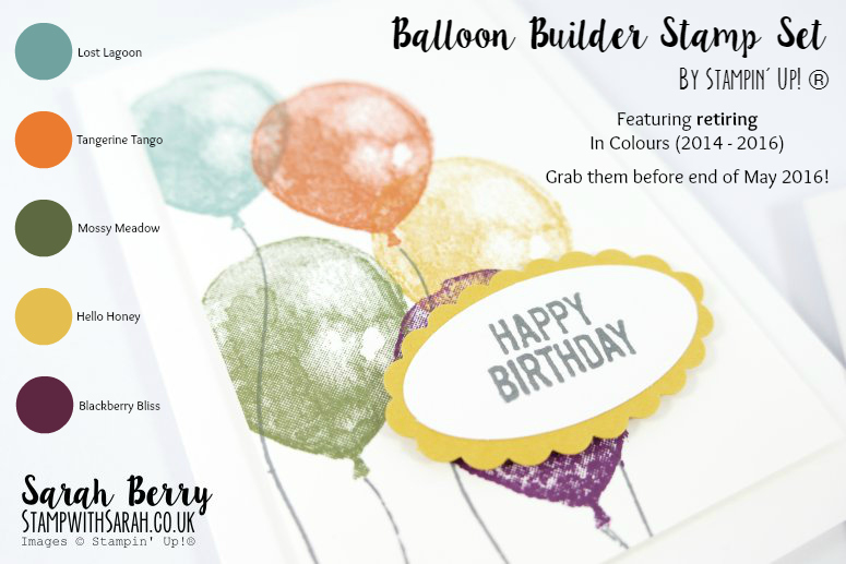 Cards for Card & Cuppa class using Balloon Builders stamp set by Stampin' Up! #stampwithsarah #stampinup