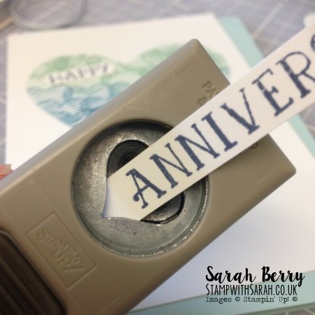 Close up of Anniversary point created with the Itty Bitty Heart Punch