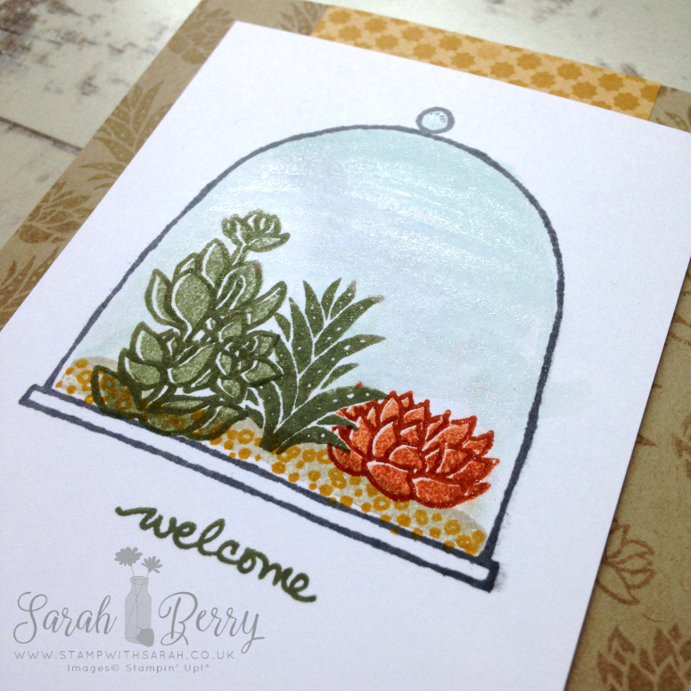 Close up of Live, Love, Grow card for Hello! Blog Hop #hellohop