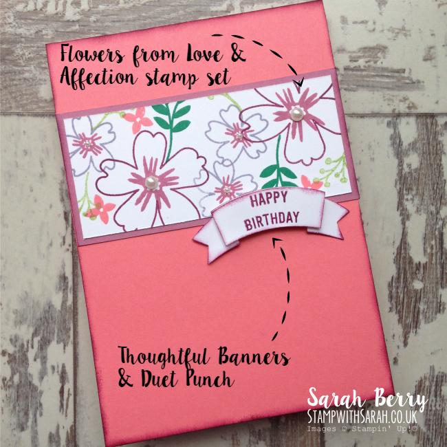 Close up of Love & Affection stamp set #stampinup #bloghop