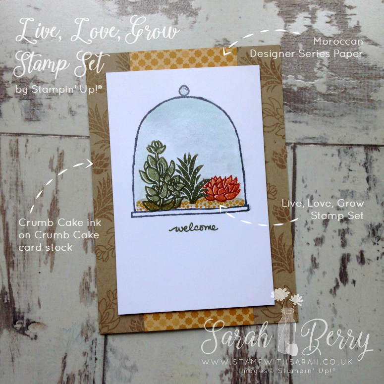 Close up of brand new Live, Love, Grow Photopolymer Stamp Set by Sarah Berry #hellohop