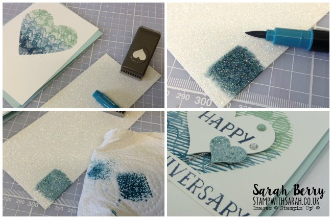 Colouring Glimmer Paper with Stampin' Write Markers