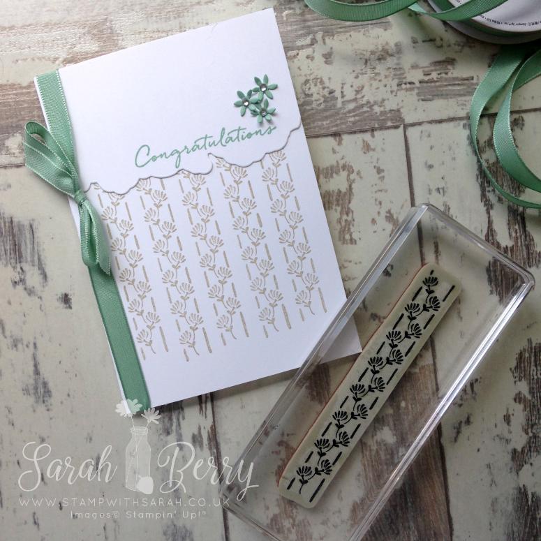 Congratulations card using Floral Phrases Bundle for Annual Catalogue International Blog Hop