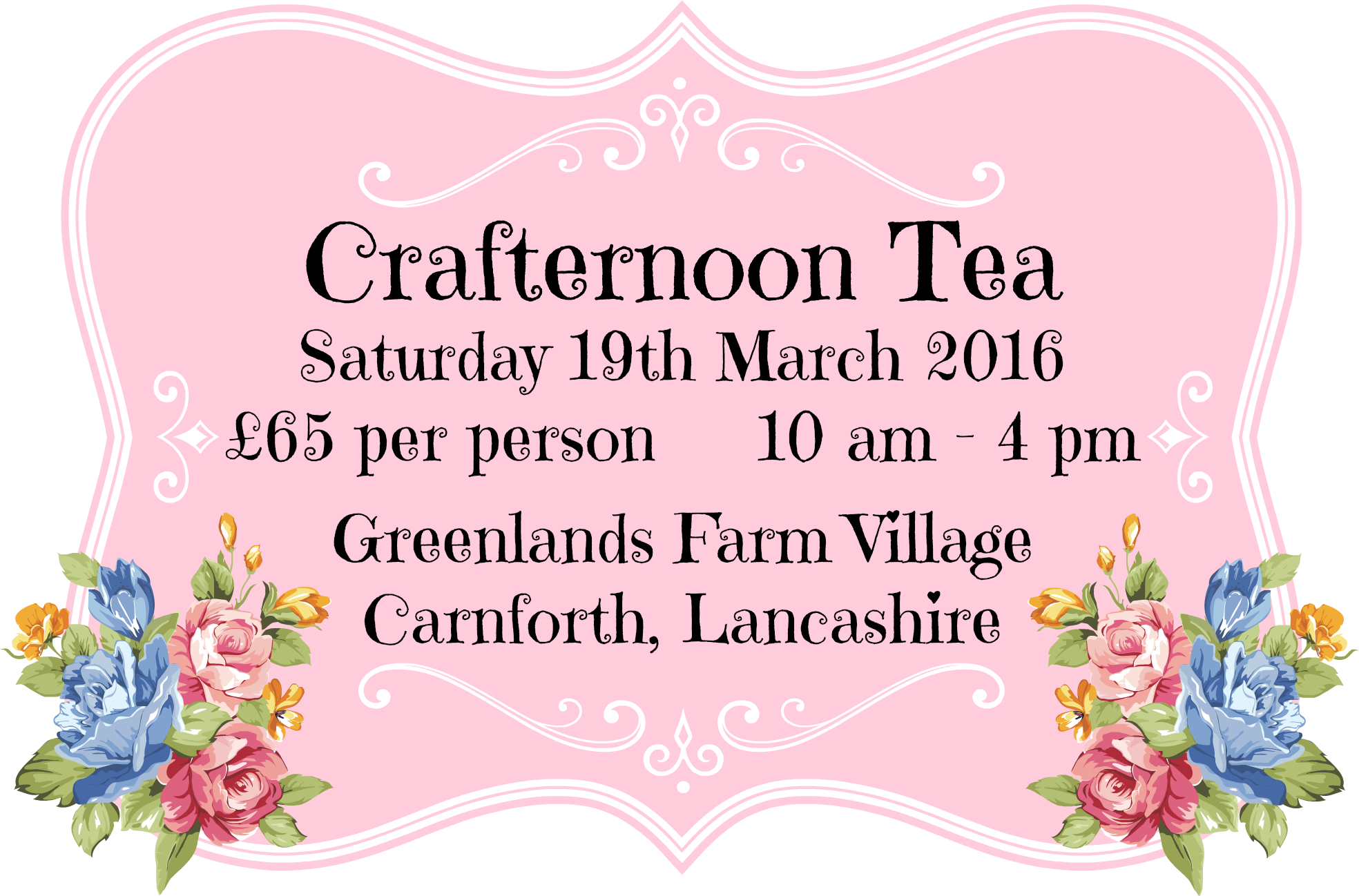 Crafternoon Tea 19th March
