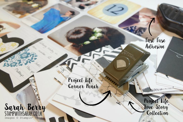 Creating wedding albums is so easy with Project Life for Mediterranean Blog Hop #gvachieversbloghop by #stampwithsarah #stampinup