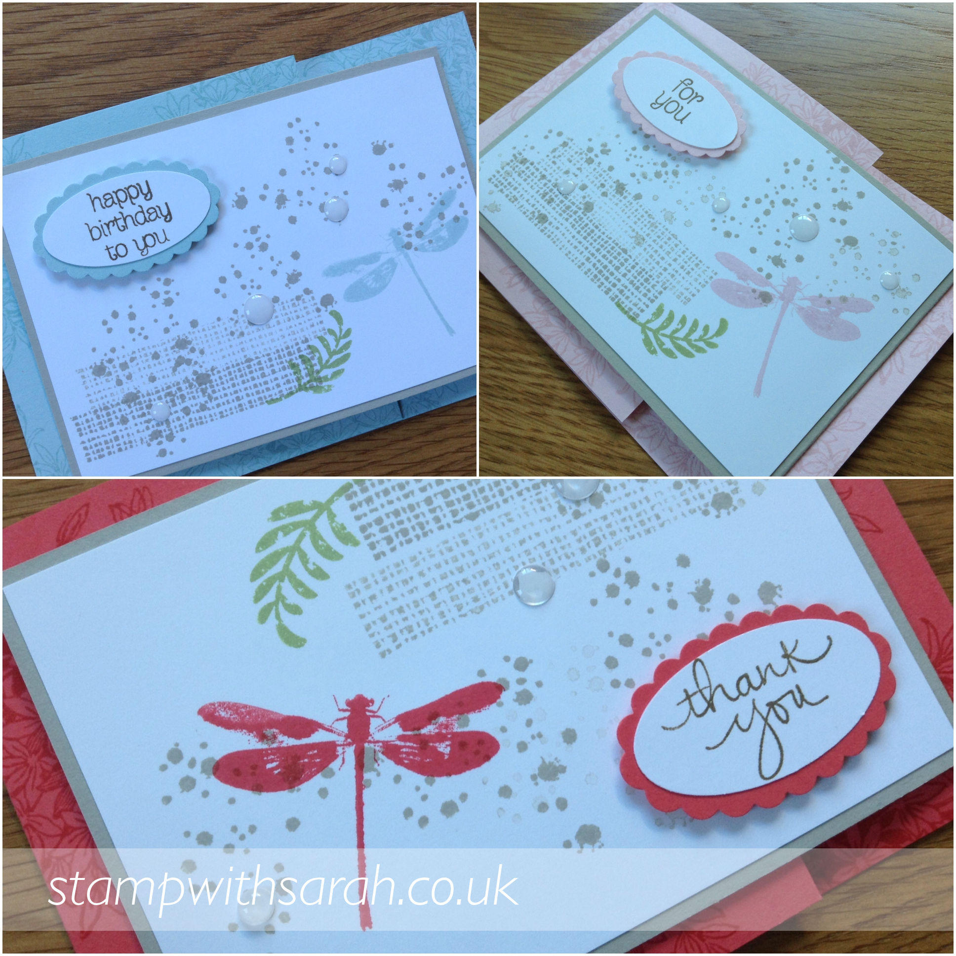 Flip Flop cards collection using Awesomely Artistic stamp set by Stampin' Up! UK