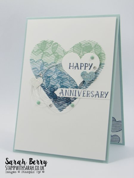 Love Themed card for Mediterranean Blog Hop #gvachieversbloghop by Stampin Up Demonstrator Sarah Berry
