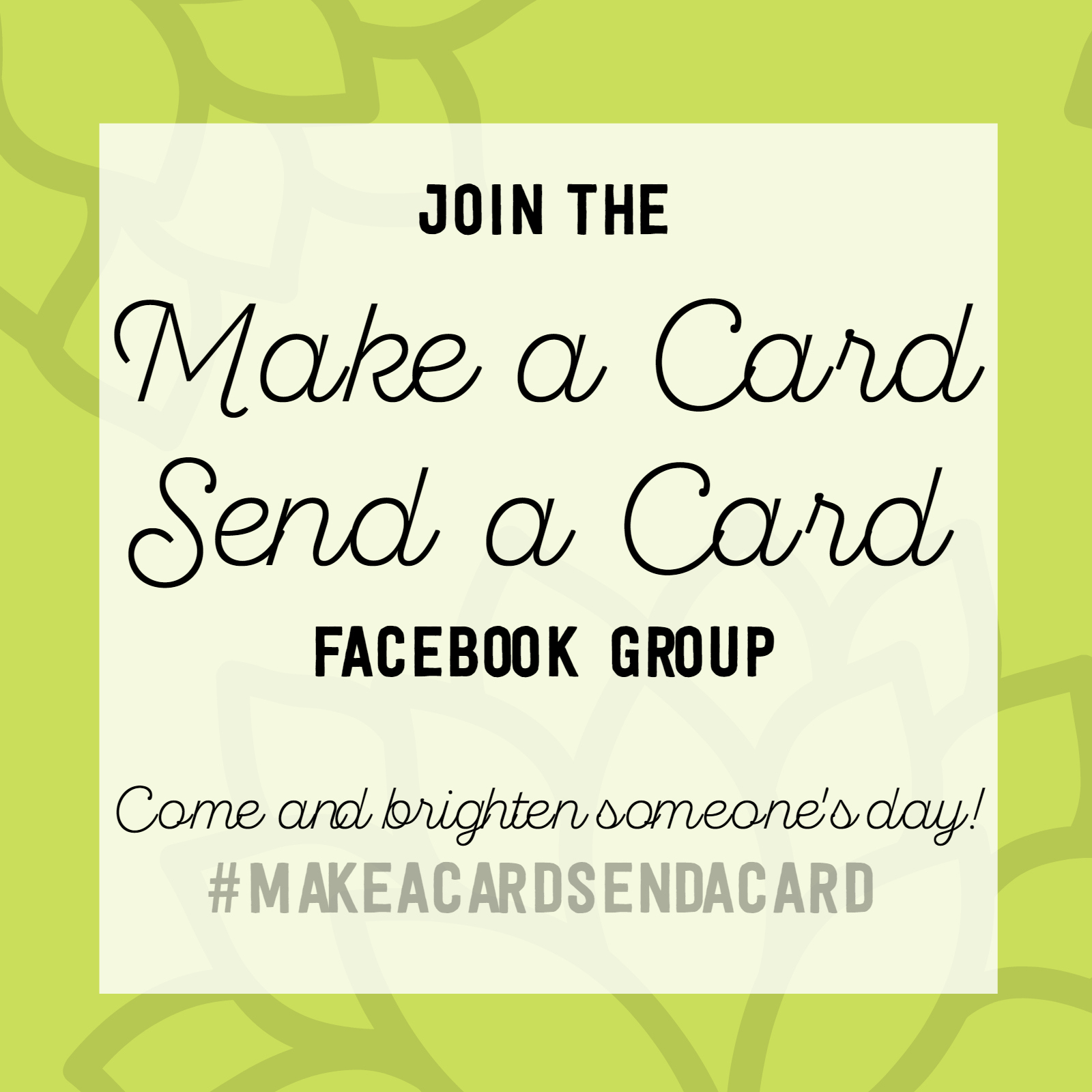 Join the Make a Card Send a Card group