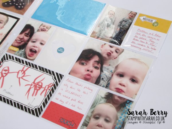 Memories in the Making Card Collection 2nd page SAB by Stampin' Up! Demonstrator Sarah Berry