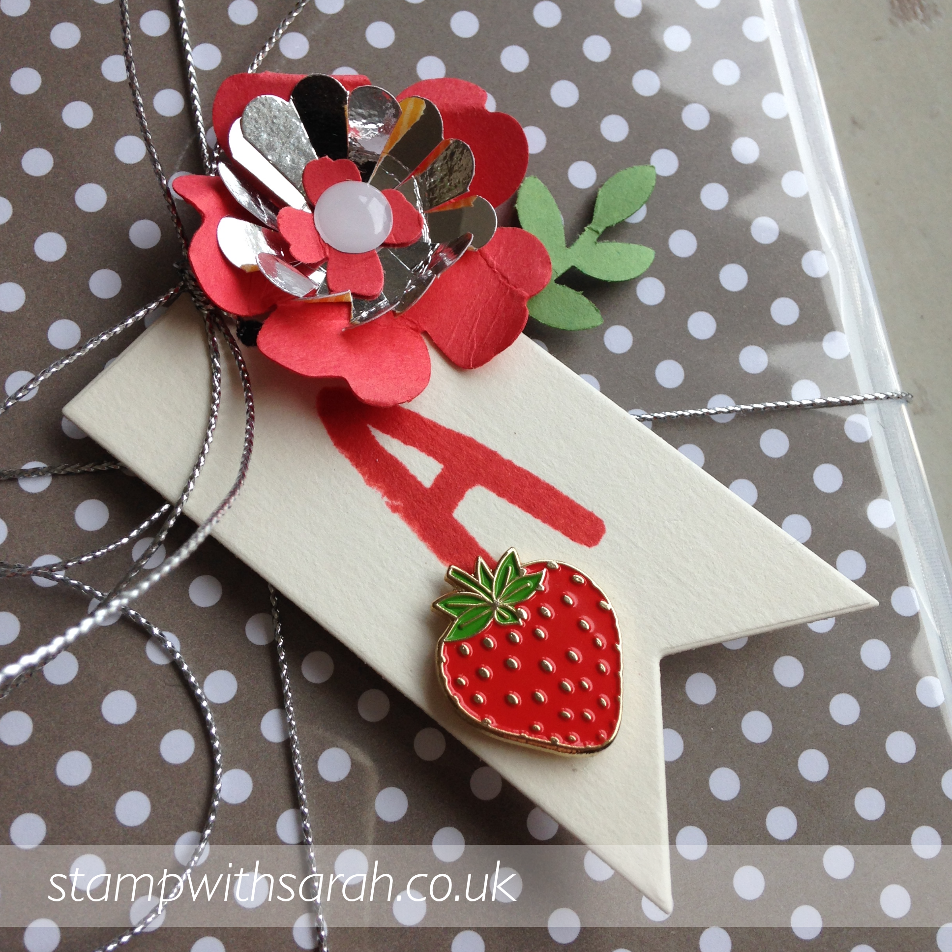 New Member of the Strawberry Stampers close up of gift