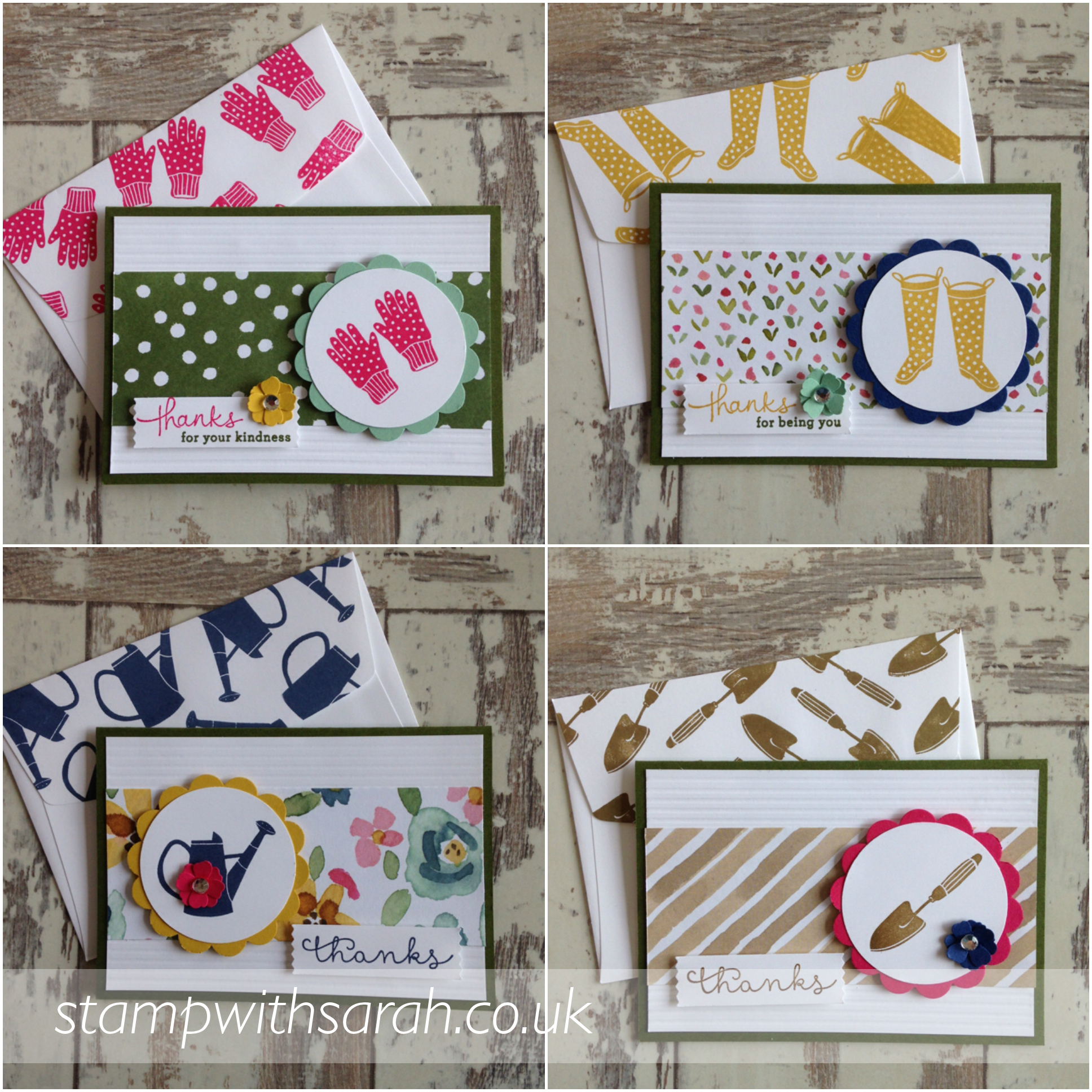 Notelet cards for tin Gift from the Garden Tin Project