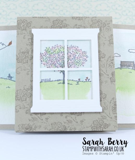 Plastic Bag slider card close up with Happy Home stamp set by Stampin' Up! #stampwithsarah #stampinup