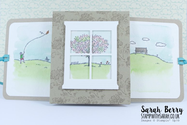 Plastic Bag slider card with Happy Home stamp set by Stampin' Up! #stampwithsarah #stampinup