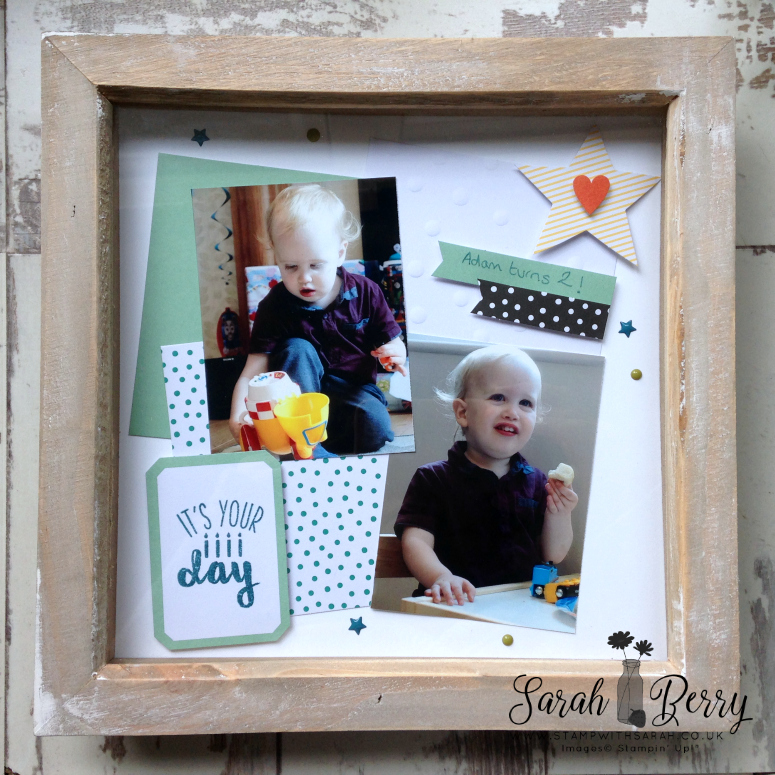 Scrapbooking layout using Oh Happy Day card kit