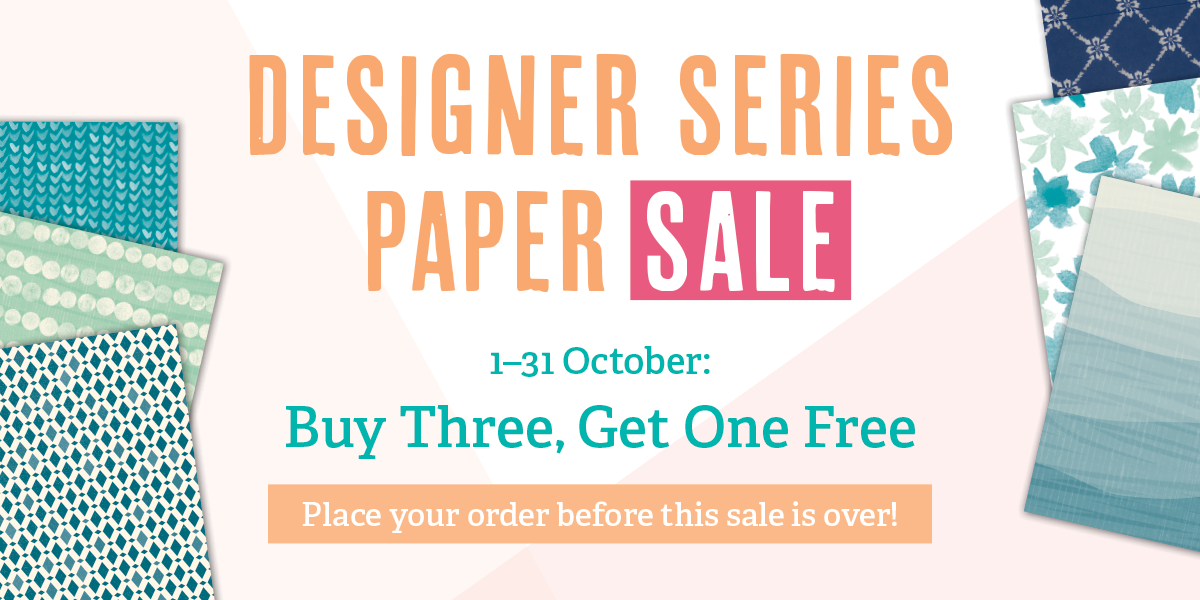 Stampin' Up! UK Designer Series Paper SALE!