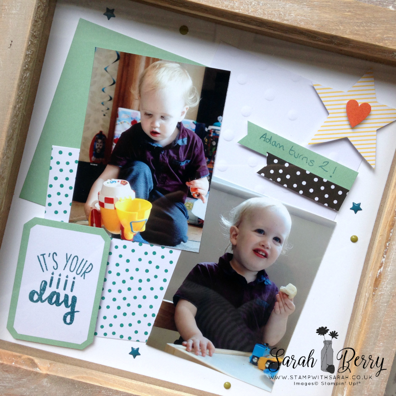 Something a little different using the Oh Happy Day card kit