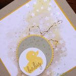 Stamp with Sarah Berry Stampin' Up! UK Baby Card using Irresistibly Yours Specialty Paper