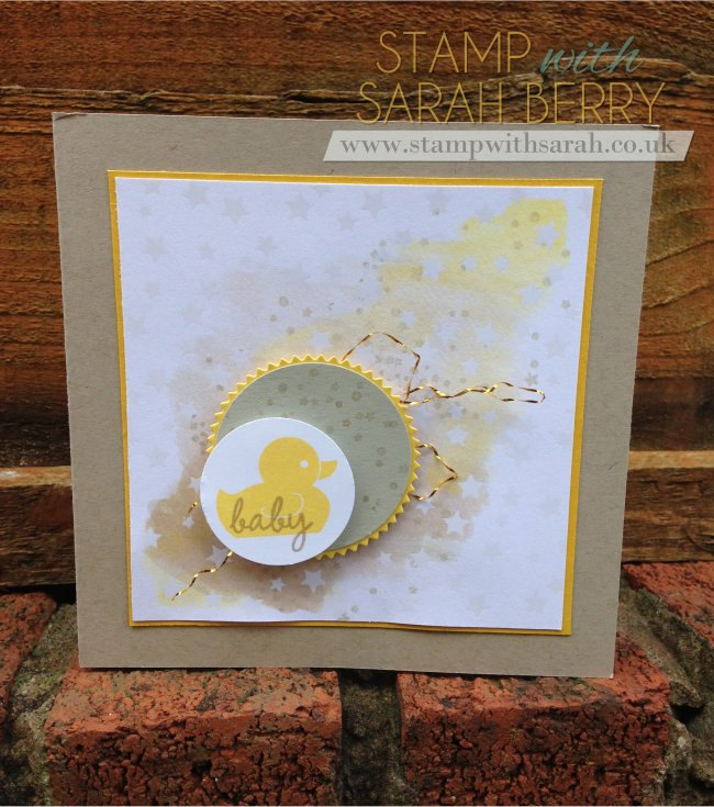 Stamp with Sarah Berry Stampin' Up! UK Baby Card using Irresistibly Yours Specialty Paper 2