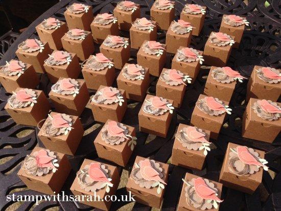 Stamp with Sarah Berry Stampin Up! UK Bird Box Swaps Craft Weekend 36 Tiny Treat Boxes