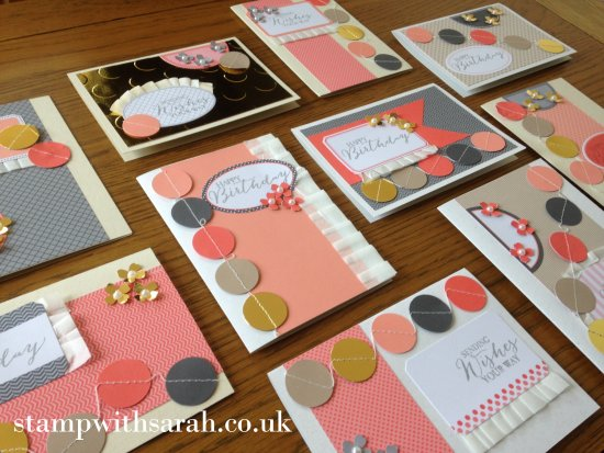 Stamp with Sarah Berry Stampin Up UK Just Dotty Takeaway Class 2