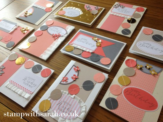 Stamp with Sarah Berry Stampin Up UK Just Dotty Takeaway Class 5