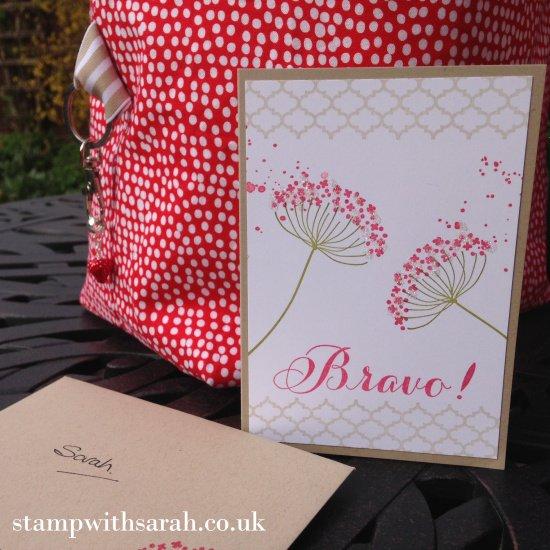 Stamp with Sarah Berry Stampin Up! UK Swap Bag & Card