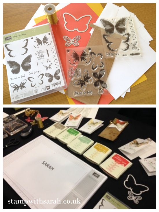 Stamp with Sarah Berry Stampin Up UK Telford Regional 2015 Watercolor Wings table set up