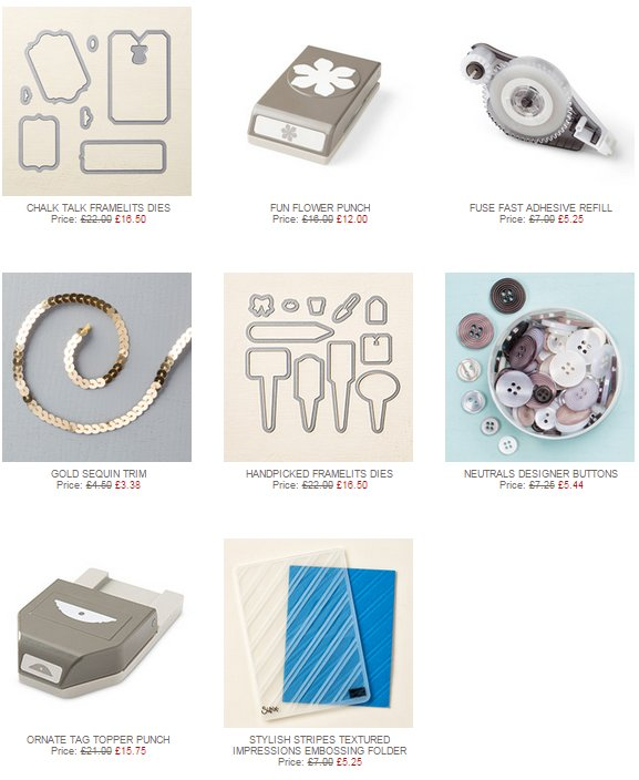 Stamp with Sarah Berry Stampin Up UK Weekly Deals 3rd June 2015