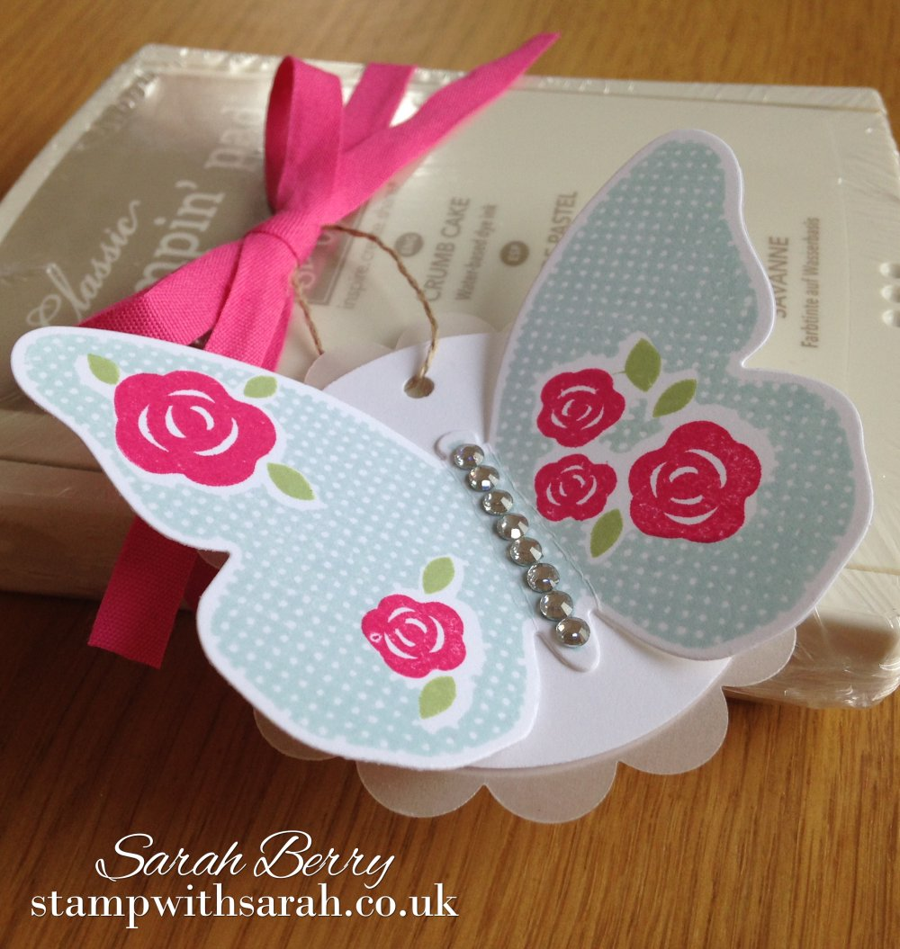 Stamp with Sarah Butterfly Floral Wings Ink Pad Gift