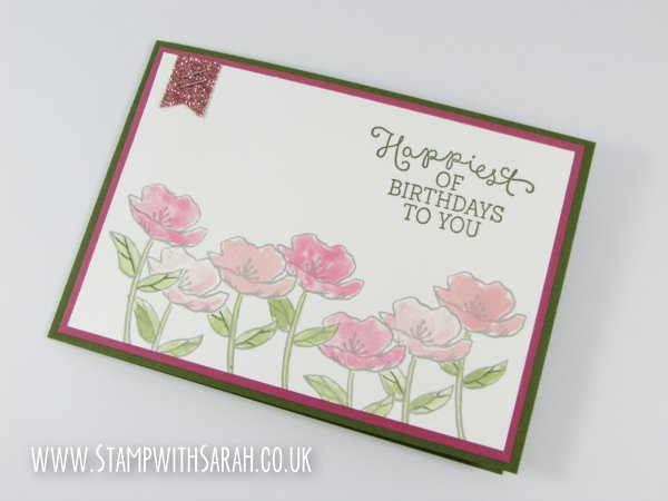 Stamp with Sarah Stampin' Up! Birthday Card Birthday Blooms 121215