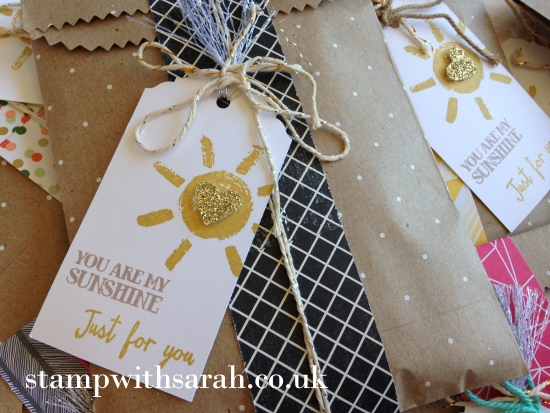 Stamp with Sarah Stampin Up UK Over the Rainbow Code Gifts