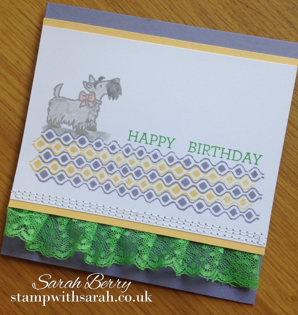 Stamp withSarah using Stampin Up UK stamp set Hey Girl