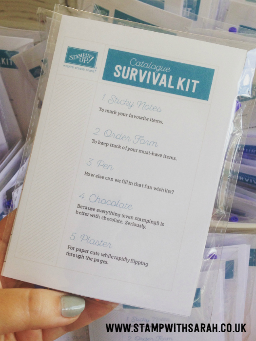 Stampin' Up! Catalogue Survial Kits, did you survive the amazing new catalogue