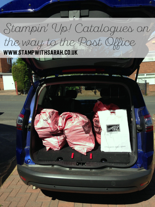 Stampin' Up! Catalogues on the way to the Post Office, can you see yours
