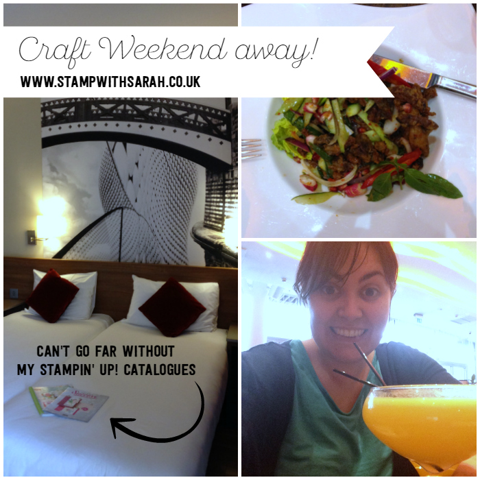 Stampin' Up! Craft Weekend away delicious meal with my team!