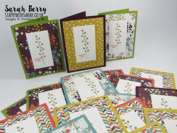 Stampin Up Demonstrator Sarah Berry Sale-A-Bration Flowering Fields stamp set and matching papers