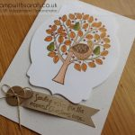 Stampin Up UK Stamp with Sarah Berry Christmas Card using Partridge & Pears stamp 133854 133857