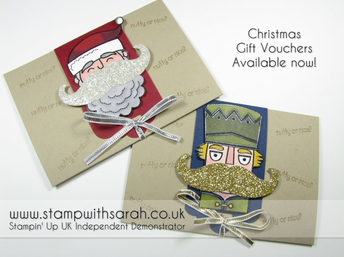 Stampin Up UK Stamp with Sarah Berry Christmas Gift Vouchers