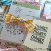 Stampin Up UK Stamp with Sarah Berry Monthly Hostess Code Gifts