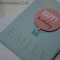 Stampin Up UK Stamp with Sarah Berry Pinkies Spring Summer Blog Hop Celebrate Today Close Up