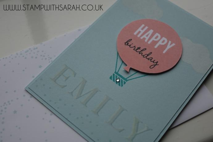 Stampin Up UK Stamp with Sarah Berry Pinkies Spring Summer Blog Hop Celebrate Today Close Up