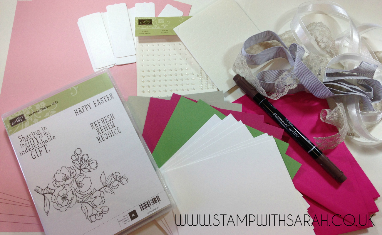 Stampin Up UK Stamp with Sarah Indescribable Gift Takeaway Class Kit